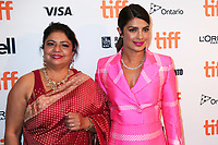 DR MADHU CHOPRA AND HER DAUGHTER PRIYANKA CHOPRA - RED CARPET OF THE FILM 'THE LITTLE VISITORS' - 42ND TORONTO INTERNATIONAL FILM FESTIVAL 2017 IN TORONTO, CANADA, 07/09/2017. # FESTIVAL DU FILM DE TORONTO - RED CARPET 'THE LITTLE VISITORS'