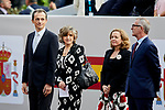Pedro Duque and Maria Luisa Carcedo attends to Spanish National Day military parade in Madrid, Spain. October 12, 2018. (ALTERPHOTOS/A. Perez Meca)