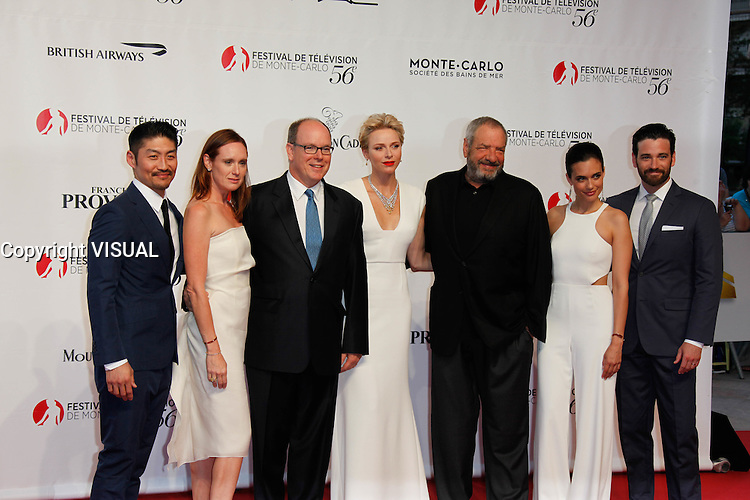 Monaco June 2016-06-12 Colin Donnell / Torrey Devitto / Dick Wolf / Brian TEE / LL.AA.SS Le Prince Souverain et la Pricesse CharlËne attends the Premiere at the Forum Grimaldi the opening ceremony During the 56th Annual Monte Carlo TV Festival