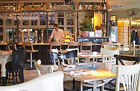 Agioli / Aioli Restaurant on Aristotelous Aristotle Square. Thessaloniki, Macedonia, Greece