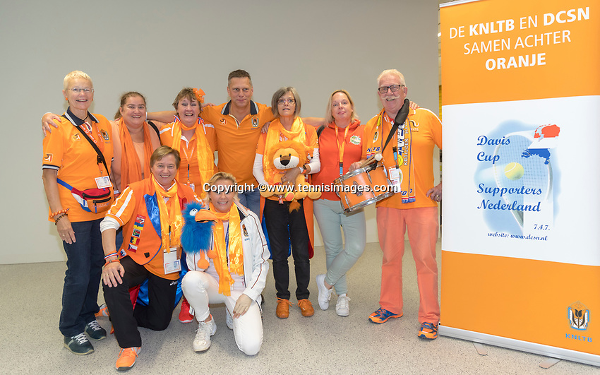 The Hague, The Netherlands, September 16, 2017,  Sportcampus , Davis Cup Netherlands - Chech Republic, Dutch supporters<br /> Photo: Tennisimages/Henk Koster