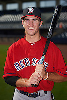 GCL Red Sox Jagger Rusconi (12) poses for a photo before the first game of a doubleheader against the GCL Rays on August 4, 2015 at Charlotte Sports Park in Port Charlotte, Florida.  GCL Red Sox defeated the GCL Rays 10-2.  (Mike Janes/Four Seam Images)