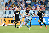 Kansas City, KS - Wednesday July 3, 2019: LAFC defeated Sporting Kansas City 5-1 in a Major League Soccer (MLS) game at Children's Mercy Park