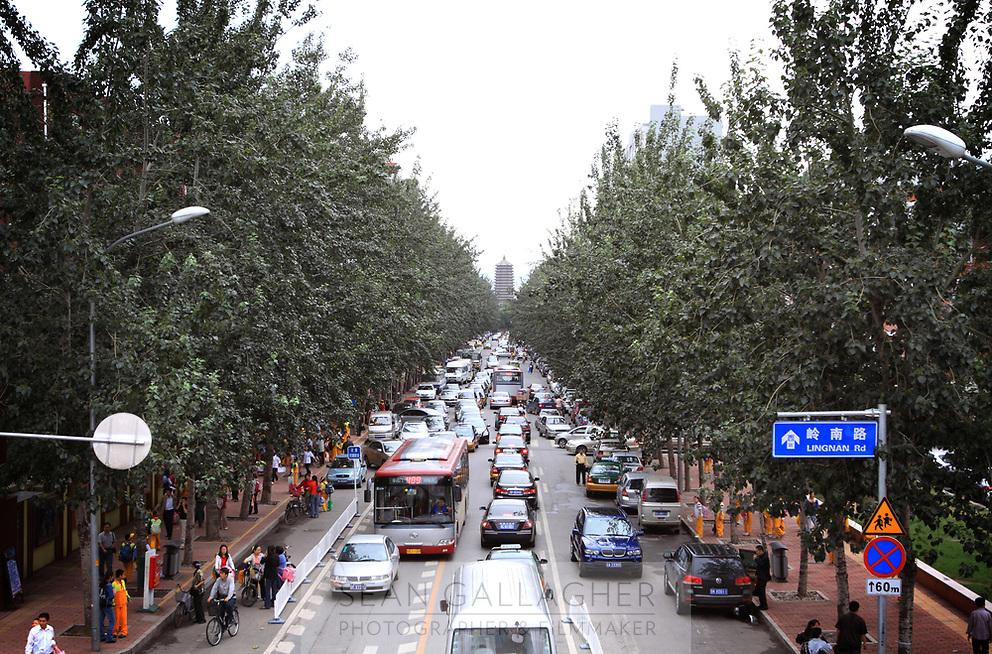 CHINA. Beijing. Traffic jams in central Beijing. 2009