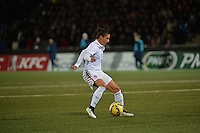 Lorient, France. - Sunday, February 8, 2015:  Ali Krieger (11) of the USWNT. France defeated the USWNT 2-0 during an international friendly at the Stade du Moustoir.