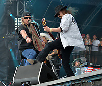 FORT LAUDERDALE, FL - APRIL 16: Johnny Van Zant, Gary Rossington of Lynyrd Skynyrd performs onstage during Tortuga Music Festival on April 16, 2016 in Fort Lauderdale, Florida.<br /> <br /> People:  Johnny Van Zant, Gary Rossington<br /> <br /> Transmission Ref:  FLXX<br /> <br /> Must call if interested<br /> Michael Storms<br /> Storms Media Group Inc.<br /> 305-632-3400 - Cell<br /> 305-513-5783 - Fax<br /> MikeStorm@aol.com<br /> www.StormsMediaGroup.com