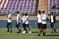 STANFORD, CA - JUNE 29: San Jose Earthquakes prior to a Major League Soccer (MLS) match between the San Jose Earthquakes and the LA Galaxy on June 29, 2019 at Stanford Stadium in Stanford, California.