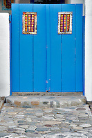 Front door of All Saints Anglican Church in America. Tubac. Arizona