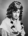 Iran 1959  .Portrait of Soray Ghassemlou with a traditional headdress of the Herki tribe.Iran 1959.Soray Ghassemlou coiffee selon la tradition Herki.