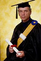 1997  File Photo - Montreal (qc) CANADA -  Senior graduate<br /> <br />  holding diploma