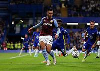 22nd September 2021; Stamford Bridge, Chelsea, London, England; EFL Cup football, Chelsea versus Aston Villa; Anwar El Ghazi of Aston Villa passing the ball into midfield