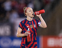 EAST HARTFORD, CT - JULY 1: Becky Sauerbrunn #4 of the USWNT drinks water during a game between Mexico and USWNT at Rentschler Field on July 1, 2021 in East Hartford, Connecticut.