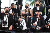 """CANNES, FRANCE - JULY 14: red carpet photogarphers at the """"A Felesegam Tortenete/The Story Of My Wife"""" screening during the 74th annual Cannes Film Festival on July 14, 2021 in Cannes, France.<br /> CAP/GOL<br /> ©GOL/Capital Pictures"""