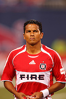 Chicago Fire midfielder (8) Diego Gutierrez. The New York Red Bulls defeated the Chicago Fire 1-0 during an MLS regular season match at Giants Stadium, East Rutherford, NJ, on September 1, 2007.