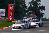 #19: Brandon Jones, Joe Gibbs Racing, Toyota Camry Toyota Service Centers/Mobil 1 and #51: Jeremy Clements, Jeremy Clements Racing, Chevrolet Camaro RepairableVehicles.com