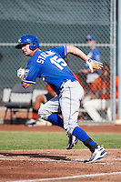 Kansas City Royals minor league outfielder Bubba Starling #15 during an instructional league game against the San Francisco Giants at the Giants Baseball Complex on October 18, 2012 in Scottsdale, Arizona. (Mike Janes/Four Seam Images)