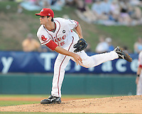 July 29, 2009: RHP Caleb Clay (5) of the Greenville Drive, Class A affiliate of the Boston Red Sox, in a game at Fluor Field at the West End in Greenville, S.C. Photo by: Tom Priddy/Four Seam Images