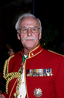 Gordon Atkinson in parade uniform, October 1996.<br /> <br /> Long-time broadcaster and politician Gordon Atkinson has died at the age of 83 in January 2006.<br /> <br /> Atkinson was born in Winnipeg on Aug. 24, 1922.<br /> <br /> He fought in both the Second World War and in the Korean War.<br /> <br /> He became a radio announcer in Calgary in 1937. He worked in radio, television, cinema and theatre between 1946 and 1950.<br /> <br /> Atkinson worked at the CBC in Toronto in 1952, and then moved to Montreal in 1953. He worked at both CBC Radio and CBC Television in Montreal from 1958 to 1981. He then moved to the private radio station CJAD, where he worked until 1989.<br /> <br /> He then decided to delve into politics, running for the newly created Equality Party and winning the seat of Notre-Dame-de-GrRce in 1989. Atkinson then sat as an independent in the National Assembly from March 29, 1994. He was defeated as an independent candidate in 1994.<br /> <br /> photo (c)  Images Distribution