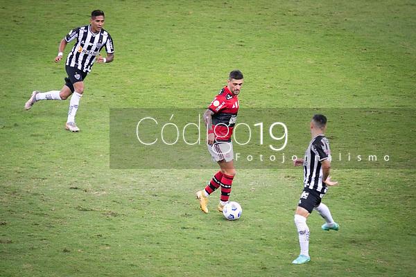 Belo Horizonte (MG) 07/07/21 - Atlético-MG-Flamengo - Arrascaeta - Partida entre Atlético-MG e Flamengo , válida pela décima rodada do Campeonato Brasileiro no Estadio Mineirão em Belo Horizonte nesta quarta feira (07)