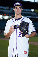 Winston-Salem Dash pitcher Dylan Cease (29) poses for a photo prior to the game against the Lynchburg Hillcats at BB&T Ballpark on May 3, 2018 in Winston-Salem, North Carolina. The Dash defeated the Hillcats 5-3. (Brian Westerholt/Four Seam Images)