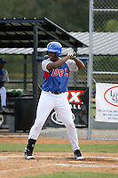 Lewin Diaz participates in the Dominican Prospect League showcase at the New York Yankees academy on September 19,2013 in Boca Chica, Dominican Republic.