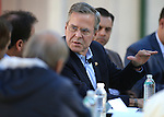 Republican presidential hopeful Jeb Bush speaks during a roundtable discussion with ranchers and elected officials at Rancho San Rafael Park in Reno, Nev., on Wednesday, Oct. 21, 2015. (Cathleen Allison/Las Vegas Review-Journal)