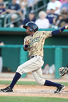 Luis Durango #5 of the Tucson Padres plays in a Pacific Coast League game against the Salt Lee Bees at Kino Stadium on April 17, 2011  in Tucson, Arizona. .Photo by:  Bill Mitchell/Four Seam Images.
