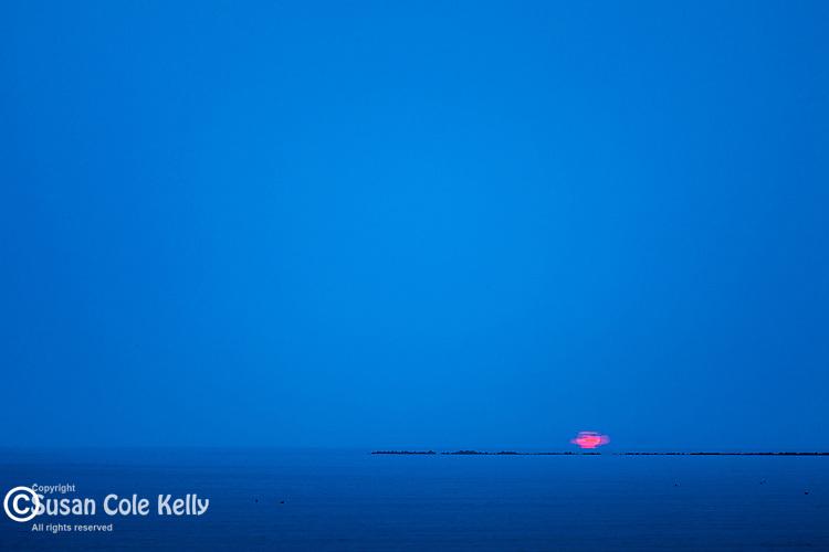 A foggy sunrise on Revere Beach, Revere, Massachusetts, USA