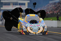 Oct. 1, 2011; Mohnton, PA, USA: NHRA funny car driver Jim Head during qualifying for the Auto Plus Nationals at Maple Grove Raceway. Mandatory Credit: Mark J. Rebilas-