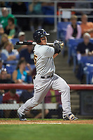 Trenton Thunder outfielder Tyler Austin (35) hits a triple during a game against the Binghamton Mets on August 8, 2015 at NYSEG Stadium in Binghamton, New York.  Trenton defeated Binghamton 4-2.  (Mike Janes/Four Seam Images)