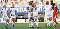 Santiago, Chile: American's player Sydney Leroux (C)celebrate a goal against Korea DRP's team during the finals match, of the Fifa U-20 Womens World Cup the at Florida´s Municipal Stadium, on December 07 th, 2008. By Grosnia / ISIphotos.com.