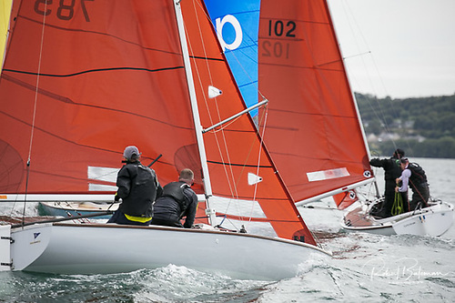 Squib one design keelboat sailing