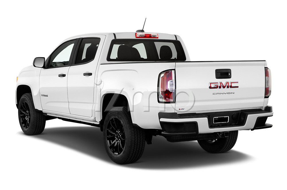 Car pictures of rear three quarter view of 2021 GMC Canyon Elevation-Standard 4 Door Pick-up Angular Rear