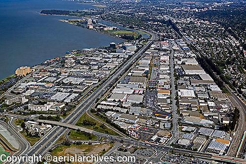 aerial photograph Burligame, San Mateo county, California
