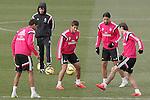 Real Madrid's Raphael Varane, Lucas Silva, Sami Khedira and Garet Bale during training session.January 30,2015.(ALTERPHOTOS/Acero)