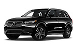 Stock pictures of low aggressive front three quarter view of 2020 Volvo XC90 Momentum 5 Door SUV Low Aggressive
