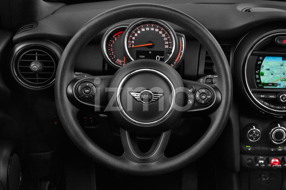 Car pictures of steering wheel view of a 2018 Mini MINI One Salt 2 Door Convertible