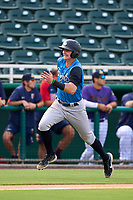 Tampa Tarpons Trey Sweeney (4) scores a run during a game against the Fort Myers Mighty Mussels on September 18, 2021 at Hammond Stadium in Fort Myers, Florida.  (Mike Janes/Four Seam Images)