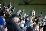 Ayr United v St Johnstone…..08.02.20   Somerset Park   Scottish Cup 5th Round<br />St Johnstone fans wave their shoes<br />Picture by Graeme Hart.<br />Copyright Perthshire Picture Agency<br />Tel: 01738 623350  Mobile: 07990 594431