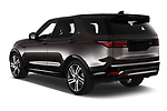 Car pictures of rear three quarter view of 2021 Land Rover Discovery R-Dynamic-HSE 5 Door SUV Angular Rear