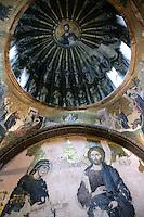 Byzantine frescoes at the Kariye Museum, Istanbul, Turkey
