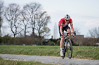 Kasper Asgreen (DEN/Deceuninck - Quick Step) solo's to victory up the Oude Kwaremont in the 64th E3 Classic 2021 (1.UWT)<br /> <br /> 1 day race from Harelbeke to Harelbeke (BEL/204km)<br /> <br /> ©kramon