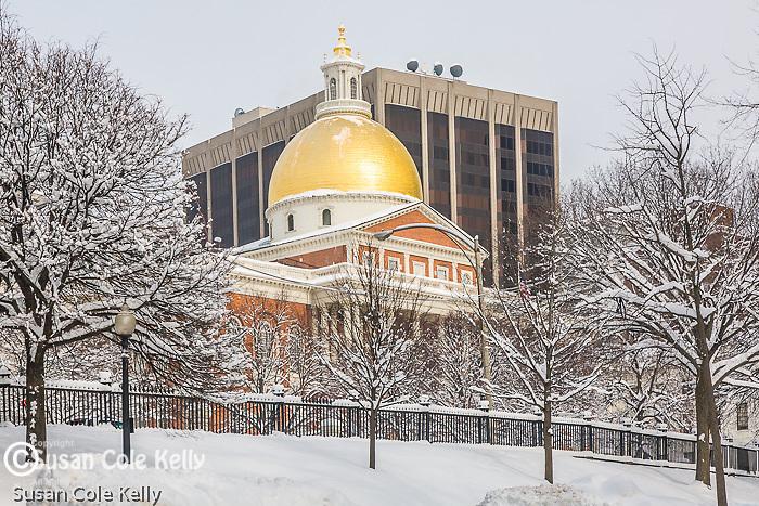 Massachusetts State House on Boston Common, Boston, MA