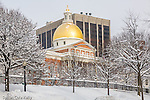 Massachusetts State House on Boston Common, Boston, MA