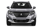 Car photography straight front view of a 2021 Peugeot 2008 Allure 5 Door SUV Front View
