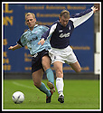 28/9/02       Copyright Pic : James Stewart                     .File Name : stewart-falkirk v st j'stone 18.IAN MAXWELL AND STEVE TOSH CHALLENGE FOR THE BALL.....James Stewart Photo Agency, 19 Carronlea Drive, Falkirk. FK2 8DN      Vat Reg No. 607 6932 25.Office : +44 (0)1324 570906     .Mobile : + 44 (0)7721 416997.Fax     :  +44 (0)1324 570906.E-mail : jim@jspa.co.uk.If you require further information then contact Jim Stewart on any of the numbers above.........