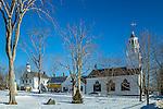 The Castine Town Common in Castine, Maine, USA