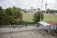 the early breakaway group<br /> <br /> 104th Ronde van Vlaanderen 2020 (1.UWT)<br /> 1 day race from Antwerpen to Oudenaarde (BEL/243km) <br /> <br /> ©kramon