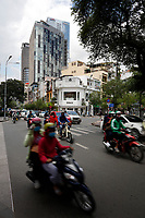 Traffic in Ho-Chi-Minh city district 1