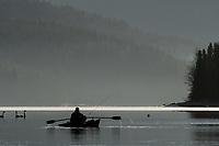 Flyfishing, Kenai Lake, Alaska.